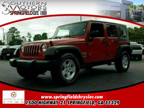 PRE-OWNED 2008 JEEP WRANGLER UNLIMITED X RWD 4D SPORT UTILITY